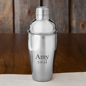 Personalized Stainless Steel Cocktail Shaker image