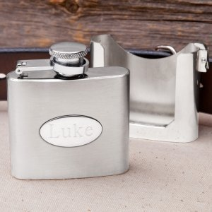 Personalized Belt Buckle Clip Flask image