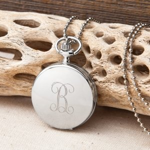 Personalized Women's Clock Pendant Necklace image