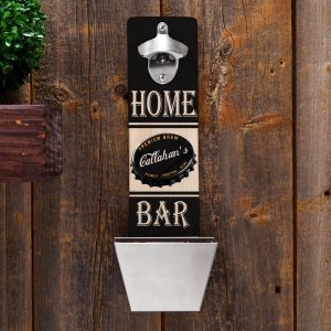 Personalized Wall Mounted Bottle Opener (7 Designs) image