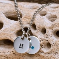 Personalized Swarovski Birthstone Charm Necklace