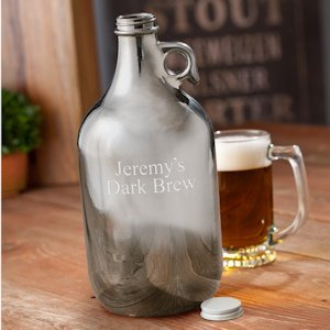 Personalized Gunmetal Beer Growler image