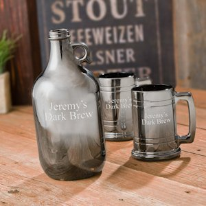 Gunmetal Beer Growler and Stein Set image
