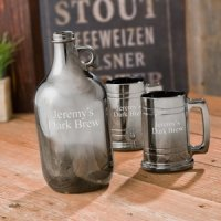 Gunmetal Beer Growler and Stein Set