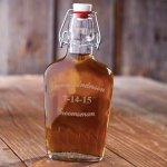 Engraved Groomsman Glass Flask