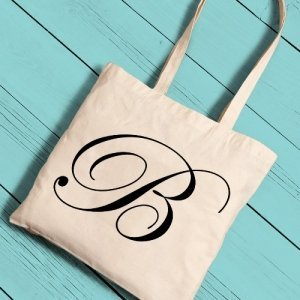Personalized Initial Tote Bag (6 Colors) image