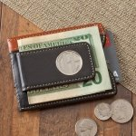 Personalized Two Tone Magnetic Money Clip Wallet