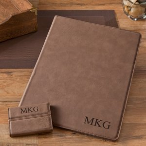 Mocha Portfolio & Business Card Case Set image