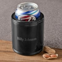 Personalized Black Metal Can Koozie