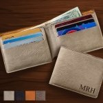 Personalized Leatherette Wallet (4 Colors)