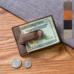 Personalized Leatherette Money Clip & Wallet image