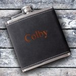 Personalized Suede Wrapped Flask