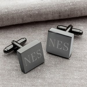 Personalized Gunmetal Square Cufflinks image