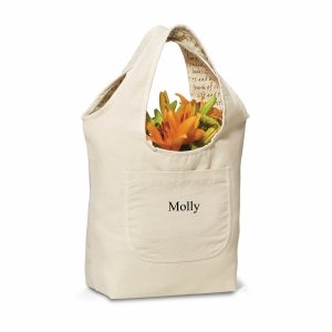 Personalized Reversible Cotton Tote (3 Designs) image