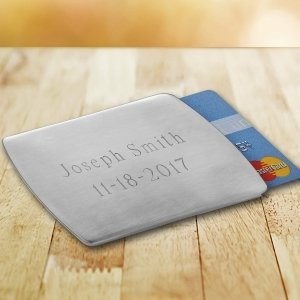 Personalized Stainless Steel Card Holder image