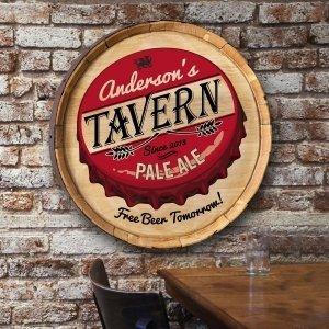 Personalized Barrel Top Sign (Many Designs) image