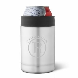 Stainless Silver Double Wall Insulated Can Holder image