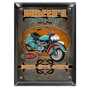 Personalized Biker Bar Sign image