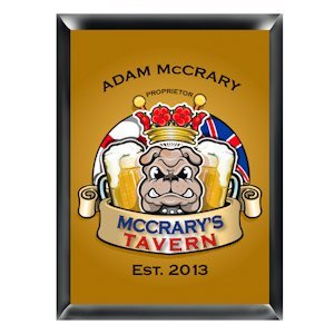 Personalized English Bulldog Pub Sign image
