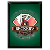 Personalized 'Texas-Hold-Em' Pub Sign