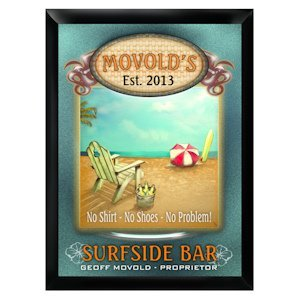 Personalized 'Surfside' Pub Sign image