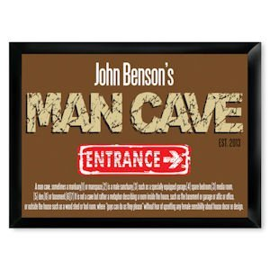 Traditional Man Cave Entrance Pub Sign image