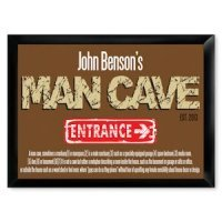 Traditional Man Cave Entrance Pub Sign
