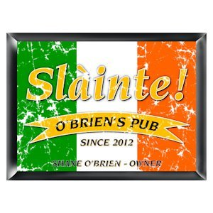 Personalized Irish Pride 'Slainte' Pub Sign image