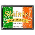 Personalized Irish Pride 'Slainte' Pub Sign