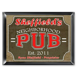 Personalized Neighborhood Pub Sign image