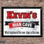 Personalized Man Cave Signs (7 Designs)