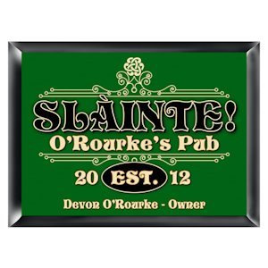 Personalized 'Slainte' Irish Pub Sign image