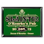 Personalized 'Slainte' Irish Pub Sign
