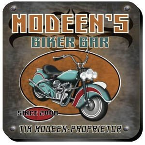 Personalized Biker Bar Coaster Set image