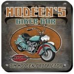 Personalized Biker Bar Coaster Set