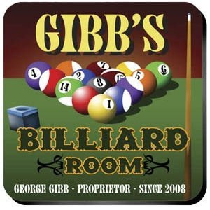 Personalized Billiards Coaster Set image