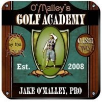 Personalized Golf Academy Coaster Set