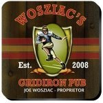 Personalized Gridiron Coaster Set