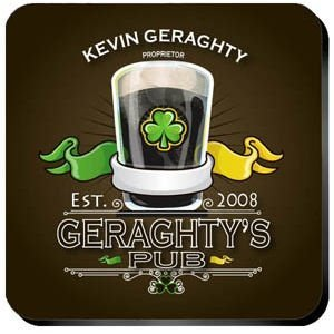 Personalized Irish Coaster Set image
