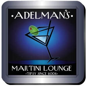 Personalized 'After-Hours' Martini Lounge Coaster Set image