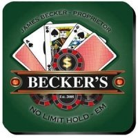 Personalized 'Texas-Hold-Em' Coaster Set