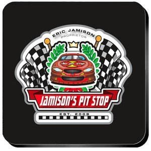 Personalized Racing 'Pit-Stop' Coaster Set image