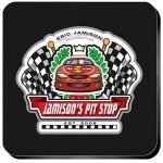 Personalized Racing 'Pit-Stop' Coaster Set