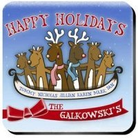 Personalized Reindeer Coaster Set