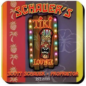 Personalized Tiki Lounge Coaster Set image