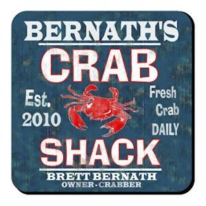 Personalized Crab Shack Coaster Set image