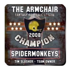 Personalized Fantasy Football Champion Coaster Set image