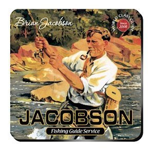 Personalized Fishing Guide Coaster Set image