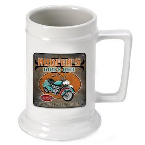 Personalized Biker Bar Beer Stein image