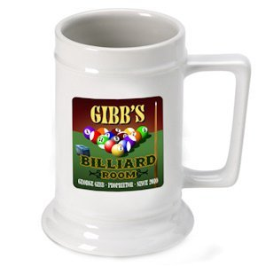 Personalized Billiards Beer Stein image